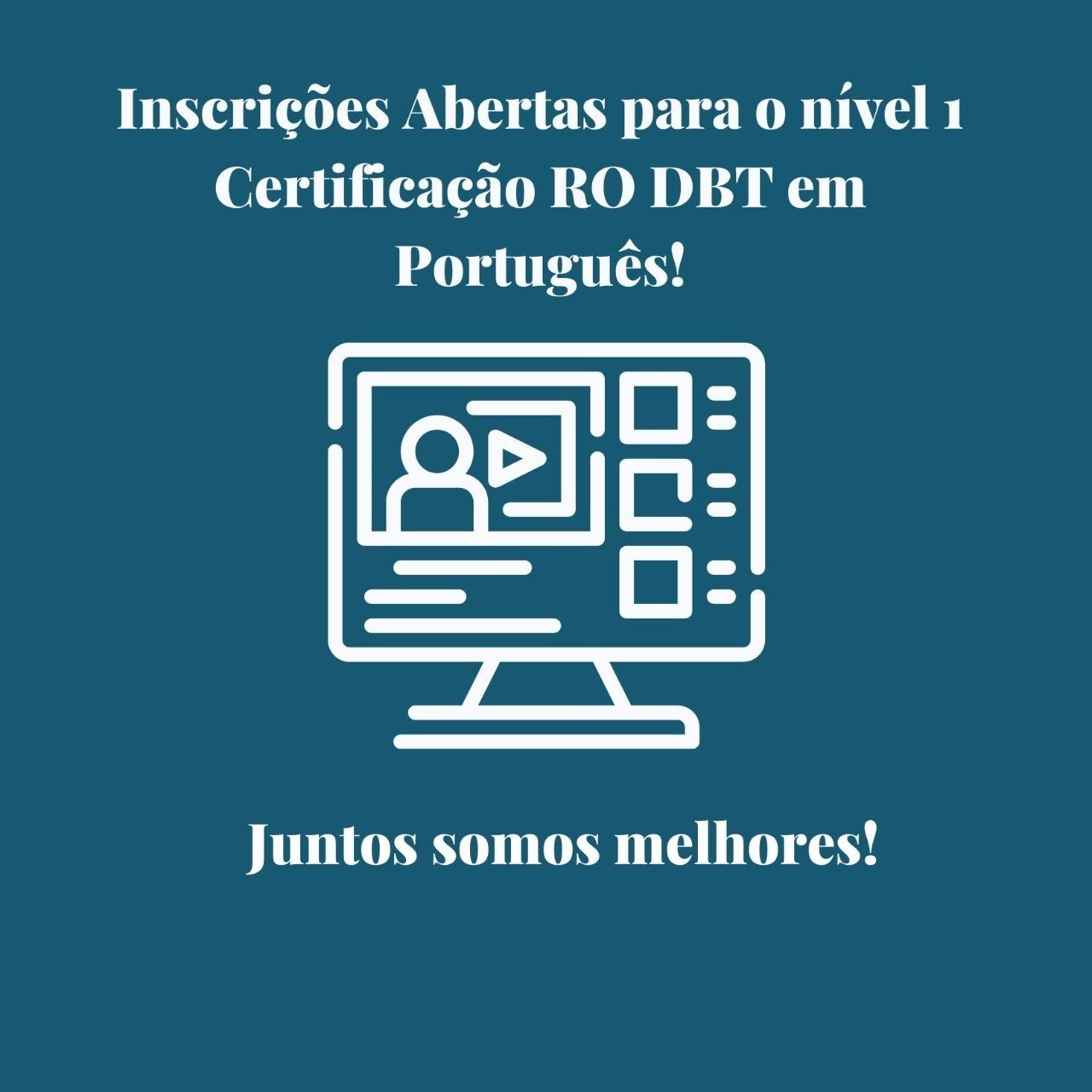 Certificação em RO DBT
