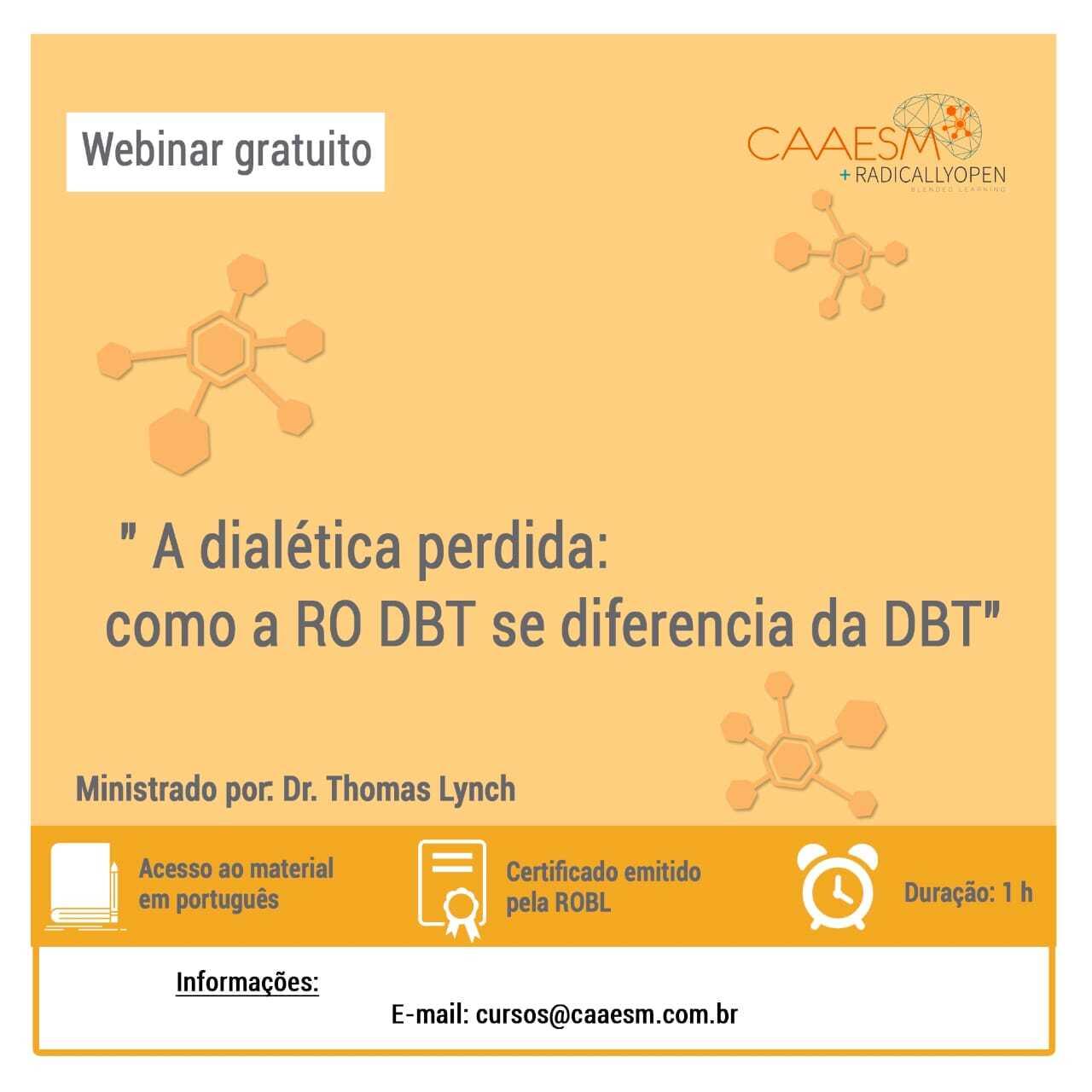 Como a RO DBT se diferencia da DBT